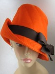 Orange Wool Felt Panel Hat