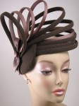 Tweed and Satin Fascinator
