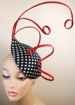 Polka-Dot and Red Fascinator