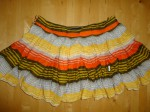 Stripe cotton skirt